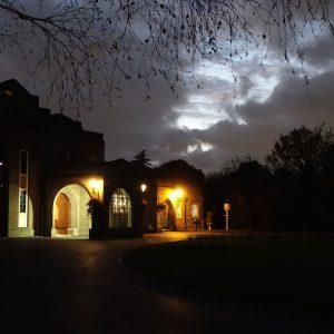 Crematorium at night