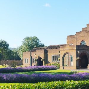 Front view of Mortlake Crematorium